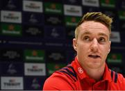 14 January 2019; Rory Scannell during a Munster Rugby press conference at University of Limerick in Limerick. Photo by Seb Daly/Sportsfile