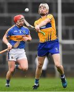 13 January 2019; Ryan Taylor of Clare in action against Willie Connors of Tipperary during the Co-Op Superstores Munster Hurling League Final 2019 match between Clare and Tipperary at the Gaelic Grounds in Limerick. Photo by Piaras Ó Mídheach/Sportsfile