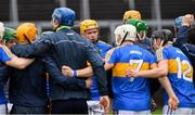 13 January 2019; Padraic Maher of Tipperary in a huddle before the Co-Op Superstores Munster Hurling League Final 2019 match between Clare and Tipperary at the Gaelic Grounds in Limerick. Photo by Piaras Ó Mídheach/Sportsfile
