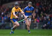 13 January 2019; Michael O'Neill of Clare in action against Alan Flynn of Tipperary during the Co-Op Superstores Munster Hurling League Final 2019 match between Clare and Tipperary at the Gaelic Grounds in Limerick. Photo by Piaras Ó Mídheach/Sportsfile