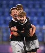 14 January 2019; Luke Hardy, left, and Andrew Whyte of The High School celebrate following the Bank of Ireland Fr. Godfrey Cup Round 1 match between The High School and Newpark Comprehensive at Energia Park in Dublin. Photo by Harry Murphy/Sportsfile