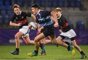 14 January 2019; Harry O'Sullivan of Newpark Comprehensive School in action during the Bank of Ireland Fr. Godfrey Cup Round 1 match between The High School and Newpark Comprehensive at Energia Park in Dublin. Photo by Harry Murphy/Sportsfile