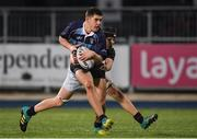 14 January 2019; Harry O'Sullivan of Newpark Comprehensive School is tackled by Aidan McNeill of The High School during the Bank of Ireland Fr. Godfrey Cup Round 1 match between The High School and Newpark Comprehensive at Energia Park in Dublin. Photo by Harry Murphy/Sportsfile