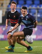 14 January 2019; Harry O'Sullivan of Newpark Comprehensive School in action against Luke Hardy of The High School during the Bank of Ireland Fr. Godfrey Cup Round 1 match between The High School and Newpark Comprehensive at Energia Park in Dublin. Photo by Harry Murphy/Sportsfile