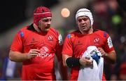 14 December 2018; Eric O'Sullivan, left, and Rory Best of Ulster during the European Rugby Champions Cup Pool 4 Round 4 match between Ulster and Scarlets at the Kingspan Stadium in Belfast. Photo by Ramsey Cardy/Sportsfile