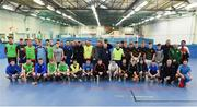 14 January 2019; Players, officials and members of An Garda Síochána during the FAI Late Nite League at Factory Youth Space, in Southill, Limerick. Photo by Seb Daly/Sportsfile