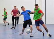 14 January 2019; Action from Hyde Rangers against Hill Celtic during the FAI Late Nite League at Factory Youth Space, in Southill, Limerick. Photo by Seb Daly/Sportsfile