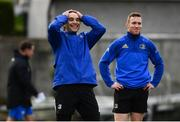 15 January 2019; James Lowe, left, and Rory O'Loughlin during Leinster Rugby squad training at Rosemount in UCD, Dublin. Photo by Ramsey Cardy/Sportsfile