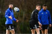 15 January 2019; Robbie Henshaw, left, Garry Ringrose, centre, and Ross Byrne during Leinster Rugby squad training at Rosemount in UCD, Dublin. Photo by Ramsey Cardy/Sportsfile