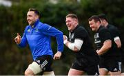 15 January 2019; Jack Conan, left, and Tadhg Furlong during Leinster Rugby squad training at Rosemount in UCD, Dublin. Photo by Ramsey Cardy/Sportsfile