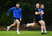 15 January 2019; Robbie Henshaw, left, and Gavin Mullin during Leinster Rugby squad training at Rosemount in UCD, Dublin. Photo by Ramsey Cardy/Sportsfile