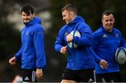 15 January 2019; Seán O'Brien, centre, Max Deegan, left, and Ed Byrne during Leinster Rugby squad training at Rosemount in UCD, Dublin. Photo by Ramsey Cardy/Sportsfile