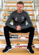 16 January 2019; Former Republic of Ireland international Damien Duff was today presented to the media as the Celtic FC Reserve Team Coach at Celtic's Lennoxtown Training Ground in East Dunbartonshire, Scotland. Photo by Alan Harvey/Sportsfile