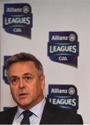 16 January 2019; The inter-county famine is about to end, giving way to a nine-week feast of Allianz Football League action between the weekend after next and the four divisional finals in Croke Park on March 30/31. The exciting programme features 116 games across the four divisions in a campaign which will mark the 27th year of Allianz' partnership with the GAA as sponsor of the Allianz Leagues, making it one of the longest-running sponsorships in Irish sport. Speaking at the Allianz Football League 2019 launch in Dublin is Sean McGrath, CEO, Allianz Ireland. Photo by Brendan Moran/Sportsfile
