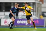 17 January 2019; Luke Gilmartin of The Kings Hospital is tackled by Matthew Jungmann of Newpark Comprehensive during the Bank of Ireland Vinnie Murray Cup Round 2 match between The Kings Hospital and Newpark Comprehensive at Energia Park in Dublin. Photo by Eóin Noonan/Sportsfile