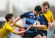 17 January 2019; Patrick Gilceava of Newpark Comprehensive is tackled by Luke Gilmartin of The Kings Hospital during the Bank of Ireland Vinnie Murray Cup Round 2 match between The Kings Hospital and Newpark Comprehensive at Energia Park in Dublin. Photo by Eóin Noonan/Sportsfile
