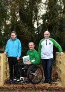 21 January 2019; Edele Armstrong, left, Special Olympic Athlete, Declan Slevin, centre, IWA, and Joe Geraghty, Vision Sport Ireland, during the Great Outdoors - A Guide for Accessibility event at the Sport Ireland National Sports Campus in Dublin. Photo by Sam Barnes/Sportsfile