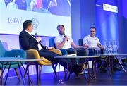 12 January 2019; Damian Lawlor, Author & Broadcaster, with Sky Sports analysts JJ Delaney, centre, and Jamesie O'Connor at The GAA Games Development Conference, in partnership with Sky Sports, which took place in Croke Park on Friday and Saturday. A record attendance of over 800 delegates were present to see over 30 speakers from the world of Gaelic games, sport and education. Croke Park, Dublin. Photo by Piaras Ó Mídheach/Sportsfile