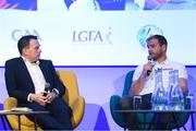 12 January 2019; Sky Sports analyst JJ Delaney with Damian Lawlor, Author & Broadcaster, at The GAA Games Development Conference, in partnership with Sky Sports, which took place in Croke Park on Friday and Saturday. A record attendance of over 800 delegates were present to see over 30 speakers from the world of Gaelic games, sport and education. Croke Park, Dublin. Photo by Piaras Ó Mídheach/Sportsfile
