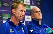 18 January 2019; Head coach Leo Cullen, left, and Devin Toner during a Leinster Rugby press conference at Leinster Rugby Headquarters in UCD, Dublin. Photo by Ramsey Cardy/Sportsfile
