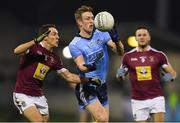 18 January 2019; Tom Lahiff of Dublin in action against Noel O'Reilly, left, and Noel Mulligan of Westmeath during the Bord na Móna O'Byrne Cup Final match between Dublin and Westmeath at Parnell Park, Dublin. Photo by Piaras Ó Mídheach/Sportsfile