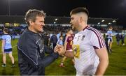 18 January 2019; Westmeath manager Jack Cooney celebrates with Eoin Carberry after the Bord na Móna O'Byrne Cup Final match between Dublin and Westmeath at Parnell Park, Dublin. Photo by Piaras Ó Mídheach/Sportsfile