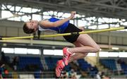 19 January 2019; Cara O'Sullivan of Ratoath AC, Co. Meath, competing in the U14 Girls High Jump event, during the Irish Life Health Indoor Combined Events All Ages at AIT International Arena in Westmeath. Photo by Sam Barnes/Sportsfile