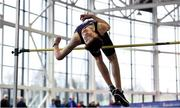 19 January 2019; Jack Forde of St. Killian's AC, Co. Wexford, competing in the Youth Men High Jump event,  during the Irish Life Health Indoor Combined Events All Ages at AIT International Arena in Westmeath. Photo by Sam Barnes/Sportsfile