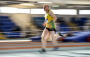 19 January 2019; Paul Connolly of Annalee AC, Co. Cavan, competing in the Master Men 50+ 60m event, during the Irish Life Health Indoor Combined Events All Ages at AIT International Arena in Westmeath. Photo by Sam Barnes/Sportsfile