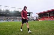 19 January 2019; Jacob Stockdale of Ulster ahead of the Heineken Champions Cup Pool 4 Round 6 match between Leicester Tigers and Ulster at Welford Road in Leicester, England. Photo by Ramsey Cardy/Sportsfile