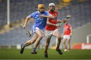 19 January 2019; Jesse Roberts of Graigue-Ballycallan in action against Jack Buckley of Charleville during the AIB GAA Hurling All-Ireland Intermediate Championship semi-final match between Graigue-Ballycallan and Charleville at Semple Stadium in Tipperary. Photo by David Fitzgerald/Sportsfile