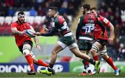 19 January 2019; Jonny May of Leicester Tigers in action against Marcell Coetzee of Ulster during the Heineken Champions Cup Pool 4 Round 6 match between Leicester Tigers and Ulster at Welford Road in Leicester, England. Photo by Ramsey Cardy/Sportsfile