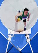19 January 2019; Brian Lynch of Old Abbey AC, Co. Cork, competing in the Junior Men Shot Put event, during the Irish Life Health Indoor Combined Events All Ages at AIT International Arena in Athlone, Co.Westmeath. Photo by Sam Barnes/Sportsfile