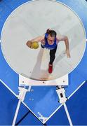 19 January 2019; Tom O'Brien of Waterford AC, Co. Waterford, competing in the Master Men 50+ Shot Put event, during the Irish Life Health Indoor Combined Events All Ages at AIT International Arena in Athlone, Co.Westmeath. Photo by Sam Barnes/Sportsfile