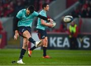 19 January 2019; Conor Murray of Munster practices place kicking prior to the Heineken Champions Cup Pool 2 Round 6 match between Munster and Exeter Chiefs at Thomond Park in Limerick. Photo by Diarmuid Greene/Sportsfile