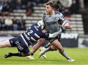 19 January 2019; Finlay Bealham of Connacht is tackled by Maxime Lamothe of Bordeaux Begles duirng the Heineken Challenge Cup Pool 3 Round 6 match between Bordeaux Begles and Connacht at Stade Chaban Delmas in Bordeaux, France. Photo by Manuel Blondeau/Sportsfile