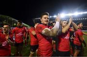 19 January 2019; Jacob Stockdale of Ulster following their victory in the Heineken Champions Cup Pool 4 Round 6 match between Leicester Tigers and Ulster at Welford Road in Leicester, England. Photo by Ramsey Cardy/Sportsfile