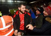 19 January 2019; Marcell Coetzee of Ulster following their victory in the Heineken Champions Cup Pool 4 Round 6 match between Leicester Tigers and Ulster at Welford Road in Leicester, England. Photo by Ramsey Cardy/Sportsfile