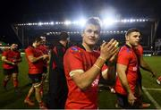 19 January 2019; Billy Burns of Ulster following their victory in the Heineken Champions Cup Pool 4 Round 6 match between Leicester Tigers and Ulster at Welford Road in Leicester, England. Photo by Ramsey Cardy/Sportsfile