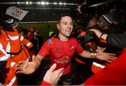 19 January 2019; John Cooney of Ulster following their victory in the Heineken Champions Cup Pool 4 Round 6 match between Leicester Tigers and Ulster at Welford Road in Leicester, England. Photo by Ramsey Cardy/Sportsfile