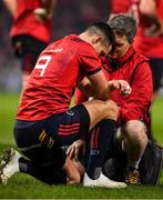 19 January 2019; Conor Murray of Munster is attended to during the Heineken Champions Cup Pool 2 Round 6 match between Munster and Exeter Chiefs at Thomond Park in Limerick. Photo by Brendan Moran/Sportsfile