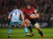 19 January 2019; CJ Stander of Munster is tackled by Nic White of Exeter Chiefs during the Heineken Champions Cup Pool 2 Round 6 match between Munster and Exeter Chiefs at Thomond Park in Limerick. Photo by Diarmuid Greene/Sportsfile