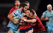 19 January 2019; Santiago Cordero of Exeter Chiefs is tackled by Joey Carbery of Munster during the Heineken Champions Cup Pool 2 Round 6 match between Munster and Exeter Chiefs at Thomond Park in Limerick. Photo by Brendan Moran/Sportsfile
