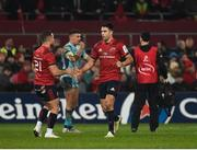 19 January 2019; Conor Murray, left, of Munster is replaced by teammate Alby Mathewson during the Heineken Champions Cup Pool 2 Round 6 match between Munster and Exeter Chiefs at Thomond Park in Limerick. Photo by Diarmuid Greene/Sportsfile
