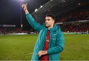 19 January 2019; Conor Murray of Munster acknowlegdes supporters after the Heineken Champions Cup Pool 2 Round 6 match between Munster and Exeter Chiefs at Thomond Park in Limerick. Photo by Diarmuid Greene/Sportsfile