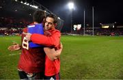 19 January 2019; Munster head coach Johann van Graan, right, and CJ Stander after the Heineken Champions Cup Pool 2 Round 6 match between Munster and Exeter Chiefs at Thomond Park in Limerick. Photo by Brendan Moran/Sportsfile