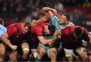 19 January 2019; Jonny Hill of Exeter Chiefs gets tangled up with Munster players, from left, Stephen Archer, Billy Holland and Peter O'Mahony in a maul during the Heineken Champions Cup Pool 2 Round 6 match between Munster and Exeter Chiefs at Thomond Park in Limerick. Photo by Brendan Moran/Sportsfile
