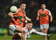 19 January 2019; Brendan Donaghy of Armagh in action against Declan McClure of Tyrone during the Bank of Ireland Dr McKenna Cup Final match between Armagh and Tyrone at the Athletic Grounds in Armagh. Photo by Oliver McVeigh/Sportsfile
