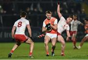 19 January 2019; Rian O'Neill of Armagh in action against Liam Rafferty of Tyrone during the Bank of Ireland Dr McKenna Cup Final match between Armagh and Tyrone at the Athletic Grounds in Armagh. Photo by Oliver McVeigh/Sportsfile