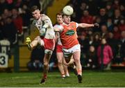 19 January 2019; Declan McClure of Tyrone in action against Ryan McShane of Armagh during the Bank of Ireland Dr McKenna Cup Final match between Armagh and Tyrone at the Athletic Grounds in Armagh. Photo by Oliver McVeigh/Sportsfile
